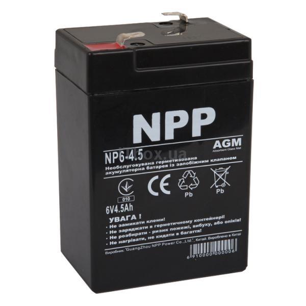 """Свинцово-кислотный аккумулятор NP6-4.5 (NPP) - ООО """"Лион-95"""" в Одессе"""