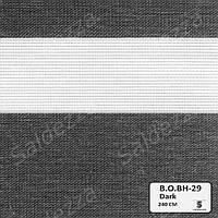 Рулонные шторы День-Ночь ЕКО (открытого типа)  - Black Out BH-29
