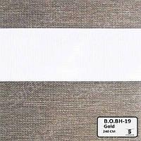 Рулонные шторы День-Ночь ЕКО (открытого типа)  - Black Out BH-19