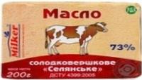 Масло крестьянское, 73%, пачка. 200 гр.(Милкер)