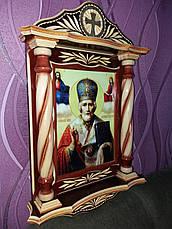 Икона ** Николай Чудотворец ** в киоте, фото 3