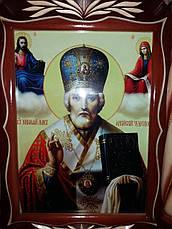 Икона ** Николай Чудотворец ** в киоте, фото 2