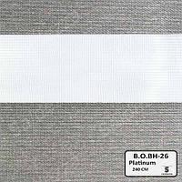 Рулонные шторы День-Ночь ЕКО (открытого типа)  - Black Out BH-26