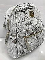 Женский рюкзак с пайетками, фото 1