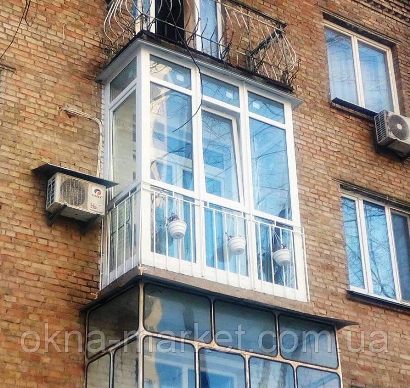 Французский балкон пвх хрущёвка недорого. французское металл.