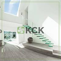 Стеклянные лестницы в дом