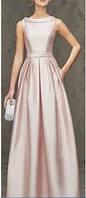 Длинное Вечернее Платье А-силуэта на Свадьбу
