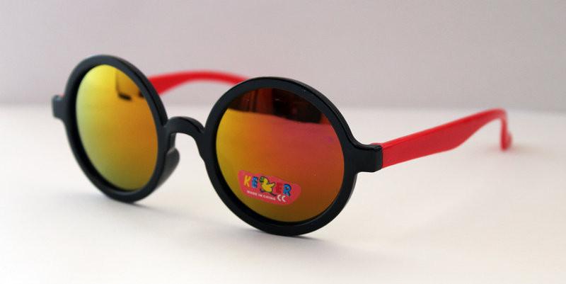 Детские разноцветные солнцезащитные очки в круглой оправе