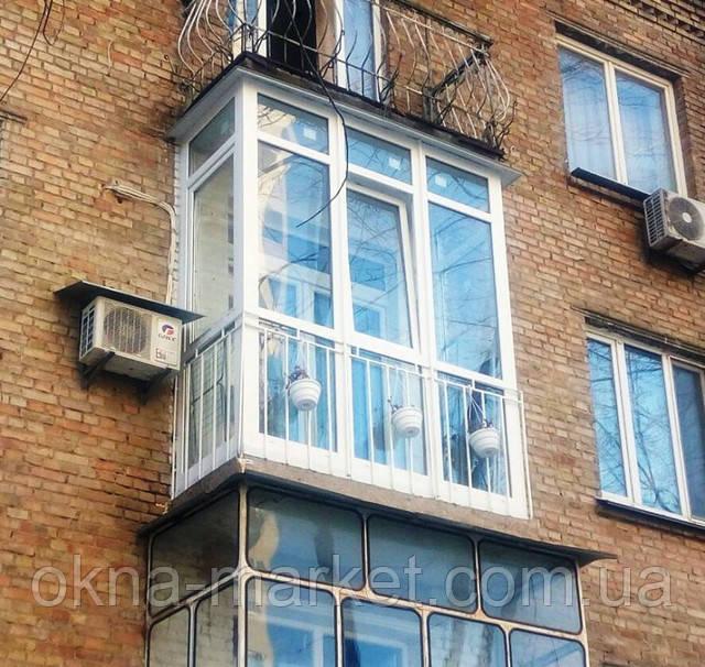 Французский балкон Хрущевка