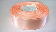 Лента атласная 2,5 см персиковая