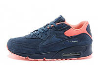 Мужские кроссовки Nike Air Max 90 Premium Brave Blue Atomic Pink
