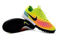 Сороконожки Nike MagistaX Finale II TF Volt/Black/Total Orange, фото 1
