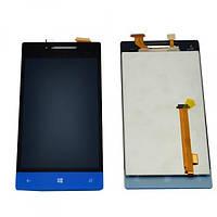 LCD (Дисплей) HTC A620e Windows Phone 8S + touch screen синий