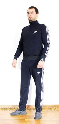 Мужской спортивный костюм Adidas синий Турция реплика, фото 2