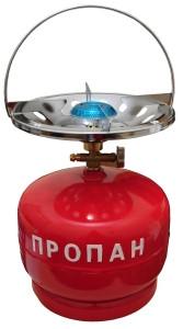 Газовая печка с баллоном 5 литров