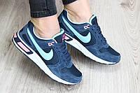 Женские синие кроссовки Nike