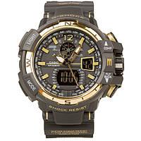 Спортивные часы Casio G-Shock GWA-1100 Black-Gold  (касио джи шок) Тренд 2017!