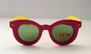 Детские разноцветные солнцезащитные очки в овальной оправе, фото 3
