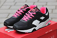 Кроссовки Puma Trinomic женские черно розовые