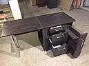 Складной маникюрный стол с выдвижными ящиками для лаков, фото 2