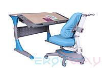 Комплект Детская парта растишка трансформер Ergoway T100B + Кресло M360 Blue