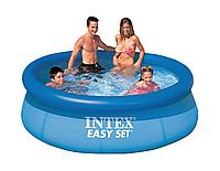 Семейный надувной бассейн Easy Set Intex 28110: размер 244х76см
