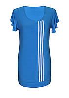 Спортивная футболка-туника Три полоски