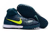 Футбольные сороконожки Nike MagistaX Proximo II TF Midnight Turqouise/Volt/Hasta/Gum Light Brown
