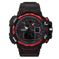 Спортивные часы Casio G-Shock GWA-1100 (касио джи шок)  Black-Red. Тренд 2017!