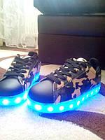 Крутые подростковые кроссовки LED лед хит 2017