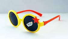Детские разноцветные солнцезащитные очки для девочек звездочка, фото 2