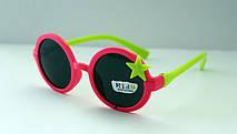 Детские разноцветные солнцезащитные очки для девочек звездочка, фото 3