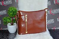 Эксклюзивная женская кожана сумка. Рыжая.