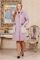 Пальто женское демисезонное, выполненное из трех цветов кашемира Разные цвета