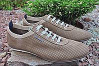 Мужские кроссовки из перфорированой кожи-нубука