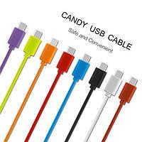 Кабель USB на microusb 1m Candy 5V/2A для телефона, планшета быстрая зарядка, шт.