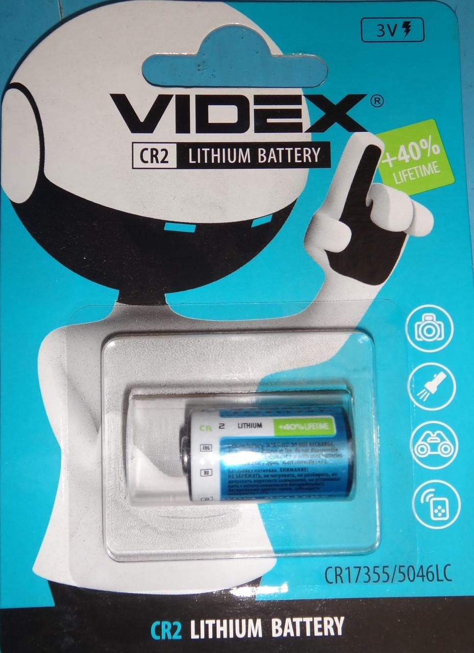 Батарейка CR2 3v Lithium Battery +40% lifetime CR17355/5046LC VIDEX