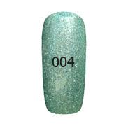 Гель-лак FOX Platinum № 004 (зелёный с шиммером),6 мл