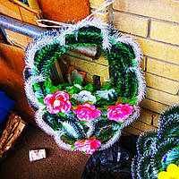 Венок Корзина роза, фото 1