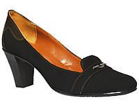 Женские туфли из натуральной замши на каблуке