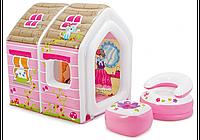 Детский надувной домик Intex 48634 Звериный лагерь: 115х110х115см
