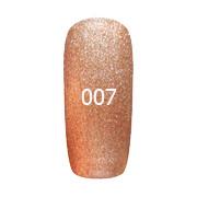 Гель-лак FOX Platinum №007 (оранжевый с шиммером),6мл