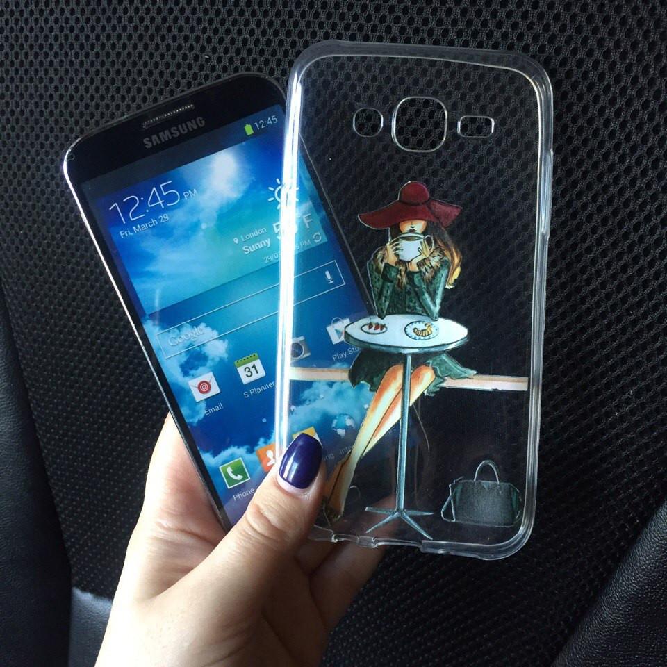 Чехлы силиконовые с девушкой для Samsung Galaxy A3 2015 (A300h)