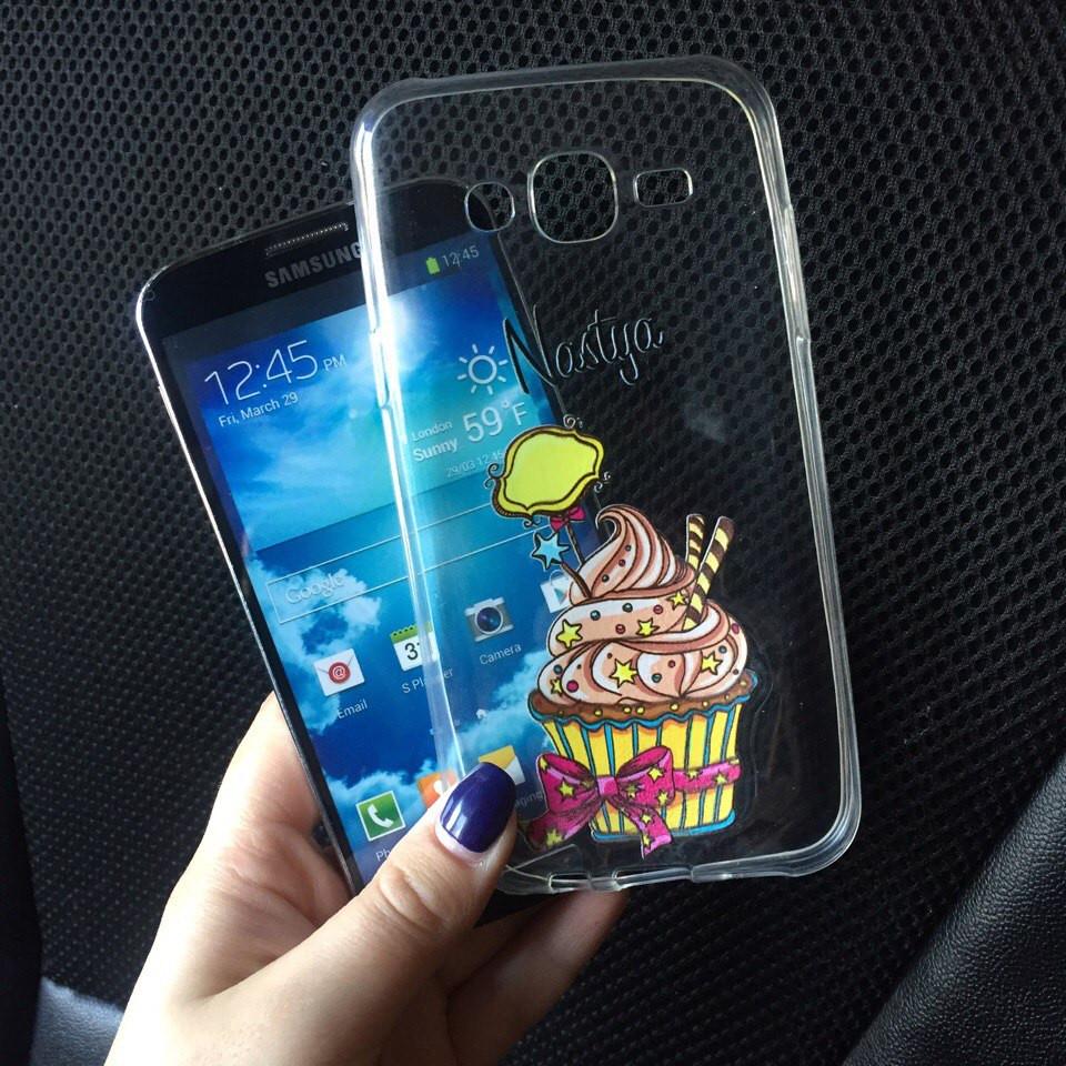 Чехлы силиконовые с именем для Samsung Galaxy A3 2015 (A300h)