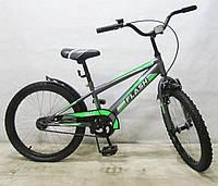 Детский двухколесный велосипед TILLY FLASH T-22043, 20 дюймов, зеленый