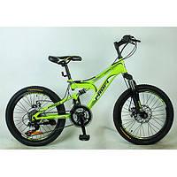 """Спортивный двухколесный велосипед Profi 20"""" Зеленый (G20DAMPER S20.4) со стальной рамой"""