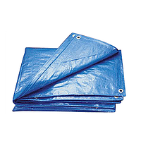 Тент тарпаулин ПВХ покрытие  6х10м, плотность  150 г/м, синий