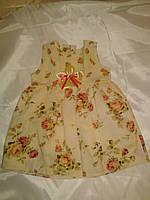 Льняное платье на девочку 2-3 года