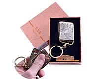"""USB зажигалка-брелок в подарочной упаковке """"Китайская стена"""" (Спираль накаливания) №4814-5"""