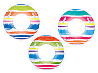 """Надувной круг с ручками Bestway 36010 """"Полоска"""": 3 цвета, диаметр 91см"""